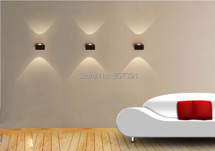 Corner Wall Light Fixture : 2 year warranty 3W Led Wall Light Sconces Decoration Fixture Lights Corner Step Stair Art ...