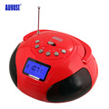August SE20 Portable Alarm Clock Radio with Bluetooth Speaker Mini MP3 Stereo System with SD Card
