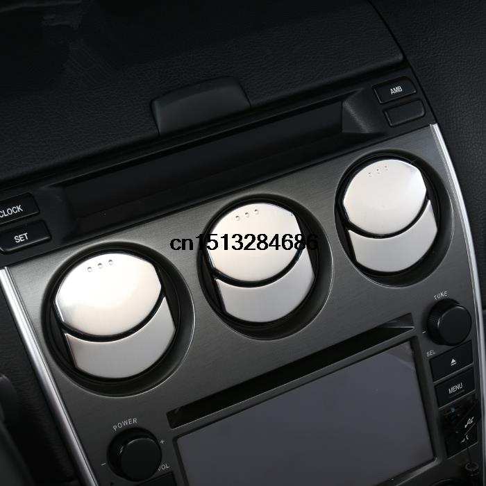 Car control Air conditioning vent Stainless steel decorative trim 12pcs for Mazda 6 accessories