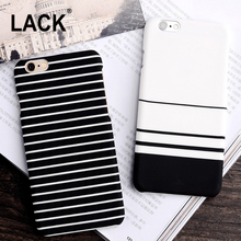 LACK High Quality Fashion Style black and white Stripes frosted Full Protect Phone Cases For iPhone 6 6s 6 6S plus 5 5S capa New