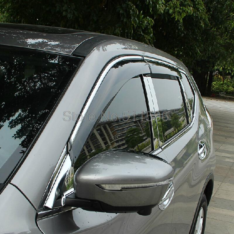 For Nissan X Trail X Trail 2014 2015 Abs Plastic Auto Accessories Window Visor Vent Shades Sun