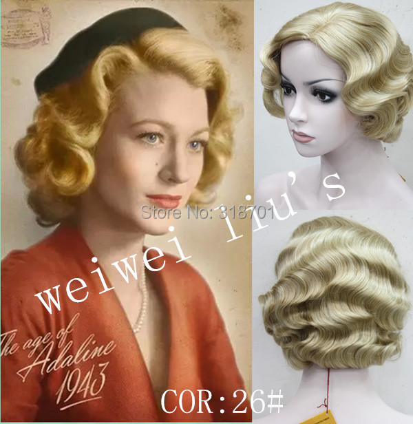Гаджет  Retro wave short wig Vintage FingerWaves Synthetic Hair Wig with SKIN TOP free shipping None Волосы и аксессуары