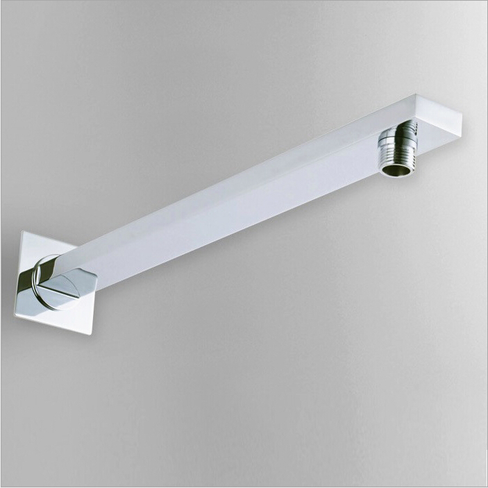 """16"""" Square Wall Mounted Chromed Brass Shower Arms G1/2""""B Bathroom Accessories HJ-0426K(China (Mainland))"""