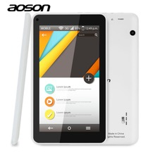 Free Shipping 7 Inch Android Tablet AOSON M751S-BS Quad Core Allwinner A33 Android 4.4 8GB ROM Dual Camera WiFi Bluetooth Tablet(China (Mainland))