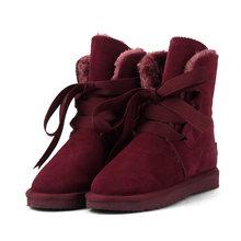 MBR Lực Lượng Mới Chất Lượng Hàng Đầu Thời Trang Nữ Ủng Da Thật Chính Hãng Da Mùa Đông Giày Ấm Giày Bốt Nữ 12 Màu Sắc Giày Hoa Kỳ 3-13(China)