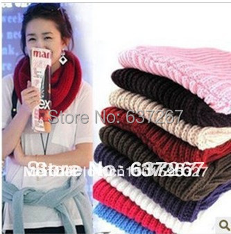 Hot Sale!Fashion New Unisex Winter Knitting Wool Collar Neck Warmer Scarf Shawl 9 Colors 10pcw/lot - BOBO Co. Ltd store