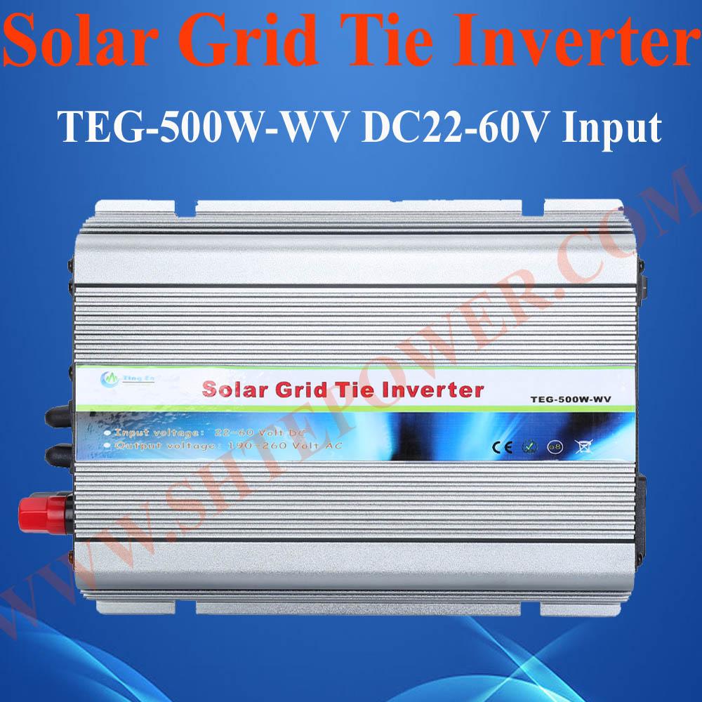 500W grid tie inverter, 24V 220V 500W solar on grid tie power inverter, home inverter(China (Mainland))