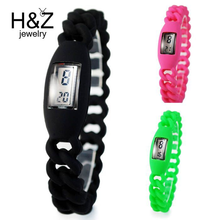 Electronic 2014 new digital Silicone sports watch girls students Fashion jelly gel quartz Led outdoor wristwatches - H&Z Shop store