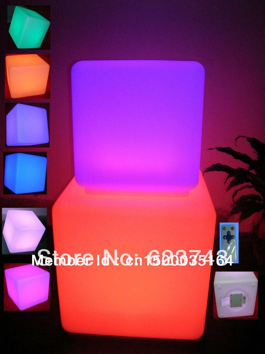 led illuminated furniture waterproof 40 40 40CM led cube with remote control LED light up stool
