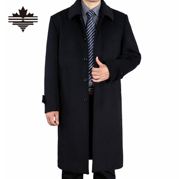 Men's Wool Coats Autumn And Spring X-Long Woolen Coat Men Single Breasted Wool Coats Overcoat Large Size 3XL 2XL England Style