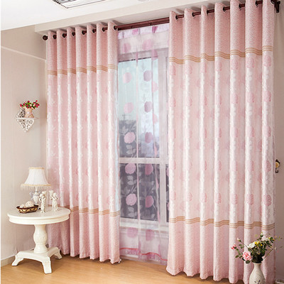 Jacquard curtain print curtain finished product rustic curtain dodechedron