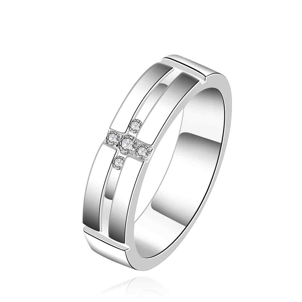 Lose Money Promotions! Wholesale silver plated ring, silver plated fashion jewelry, a coel mean Ring SMTR560(China (Mainland))