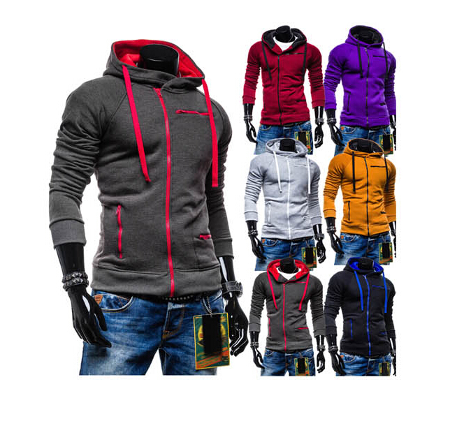 Hot Winter Male's Hooded Hat Hoodie Active Sport Mens Coat Novelty Size Color Four Choose - Hunter Outdoors Sports store
