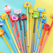 Buy Lovely 20pcs Pencils Cartoon Eracer Cute Children Kid Pencil School Stationery Gift New Fashion Kindergarten Prizes for $13.21 in AliExpress store