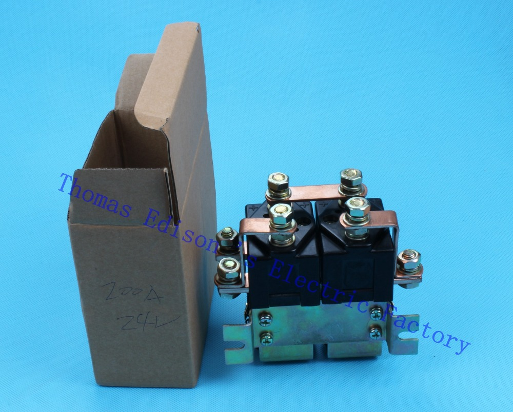 Фотография ZJW200HT SW182 2NO+2NC style Coil Voltage 24V 200A DC Contactor for handling drawing motor forklift electromobile wehicle car