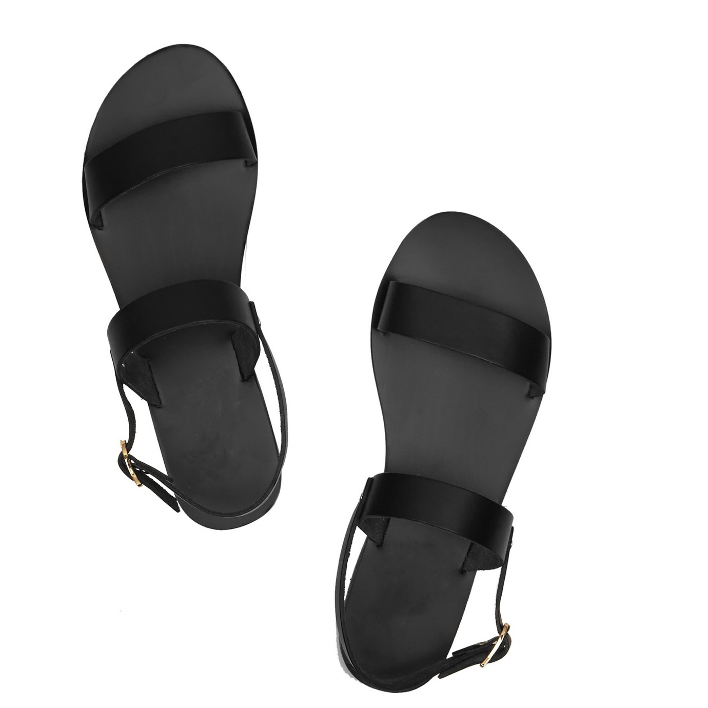 Genuine Leather Classic Design Black EUR 31-46 kids adults Beach Sandals women men summer style Shoes open toed