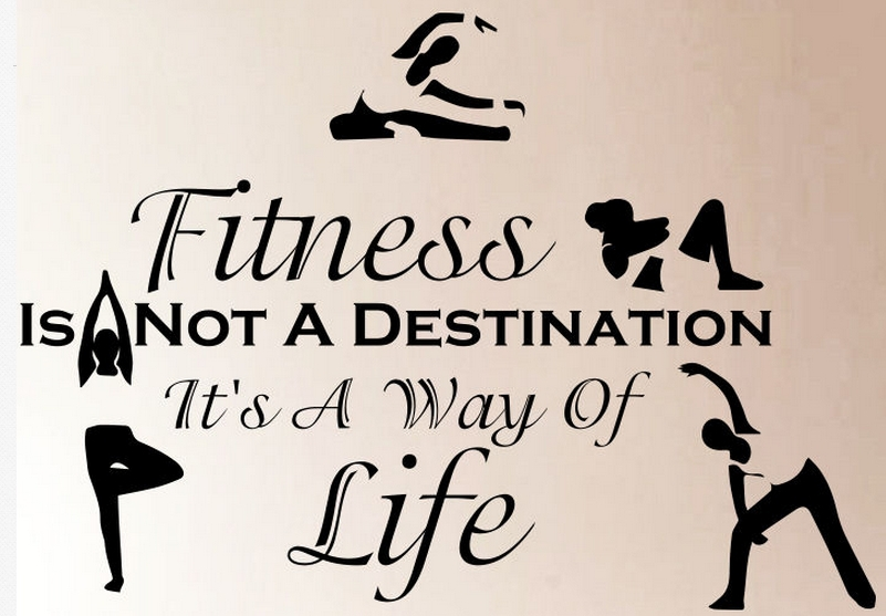 Fitness Pvc Wall Sticker Quotes Sport Fitness Is Not Exercises Gym Mural Wall Sticker Sport Centre Yoga Bedroom Home Decoration