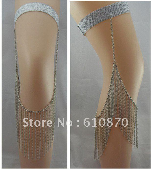 Trendy Tassel metal leg chain jewelry Punk thigh necklace women girl party - Jianing Body Jewelry's store