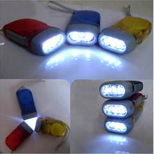 5pcs/lot Dynamo Flashlight Manual Generation LED Flashlight pinching torch hand-made lamp outdoor Hiking camping adventure(China (Mainland))