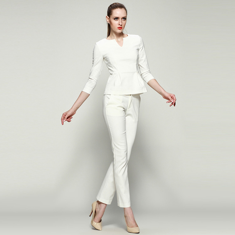Brilliant S-6Xl Plus Size Womens Pants Spring Autumn Women Wide Leg Office Pants High Waist Ladies Pants ...