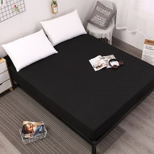 MECEROCK Funda de colchón de cama de Color sólido almohadilla protectora de colchón resistente al agua sábana separada ropa de cama de agua con elástico(China)