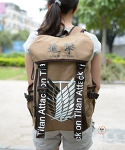 Attack on Titan Anime Cosplay Bag Cartoon Backpack Shingeki no Kyojin Canvas School Bag Travel Bags(China (Mainland))