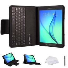 ABS Detachable Wireless Bluetooth Keyboard & Protective Case W/ Camera Shutter for Samsung Galaxy Tab A 9.7 inch Tablet T550/551