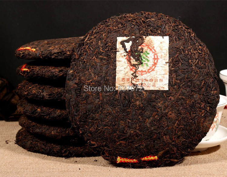 C SHOP Made in1970 ripe pu er tea 357g oldest puer tea ansestor antique dull red