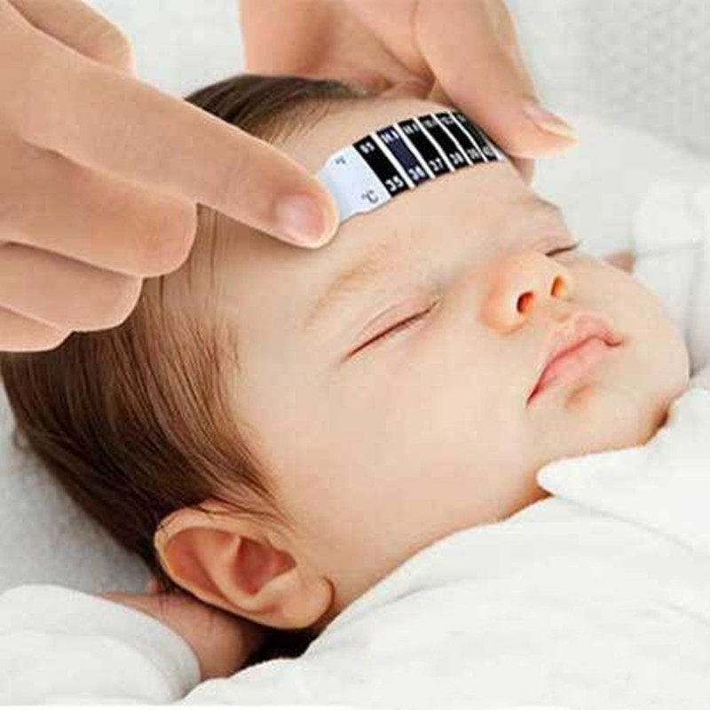 Infant Baby Fever Forehead Strip Head Temperature Test Thermometer Sticker(China (Mainland))