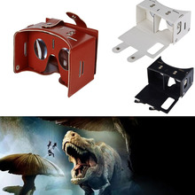 Universal PU leather 3D VR Box Google Virtual Reality Glasses Cardboard Movie Game For Smartphones with Headband Lenses HD(China (Mainland))