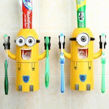2015 neue nette Schergen design setzen minecraft cartoon zahnbürstenhalter automatische zahnpastaspender mit pinsel tasse(China (Mainland))