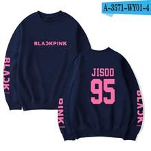 Korean Girl Group BLACKPINK Sweatshirt Name Print Women Capless Pullover KPop HipHop BLACKPINK Idol Shirt Lisa Rose JISOO(China)