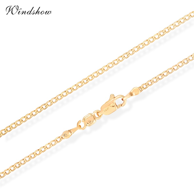 Children Boys Baby Kids Jewelry 18K Yellow Gold Plated Flat Curb Chain 14' Choker Collar Necklace Wholesale Best Birthday Gift(China (Mainland))