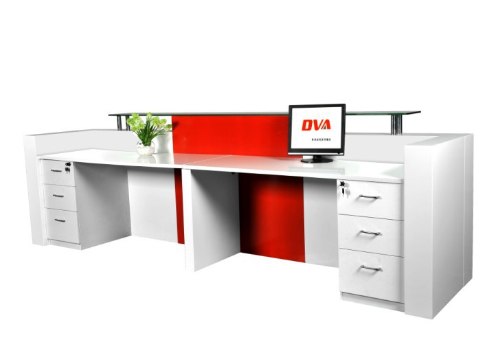 front office counter furniture customized 3m long popular and fancy elegant display office front reception desk apex lite reception counter