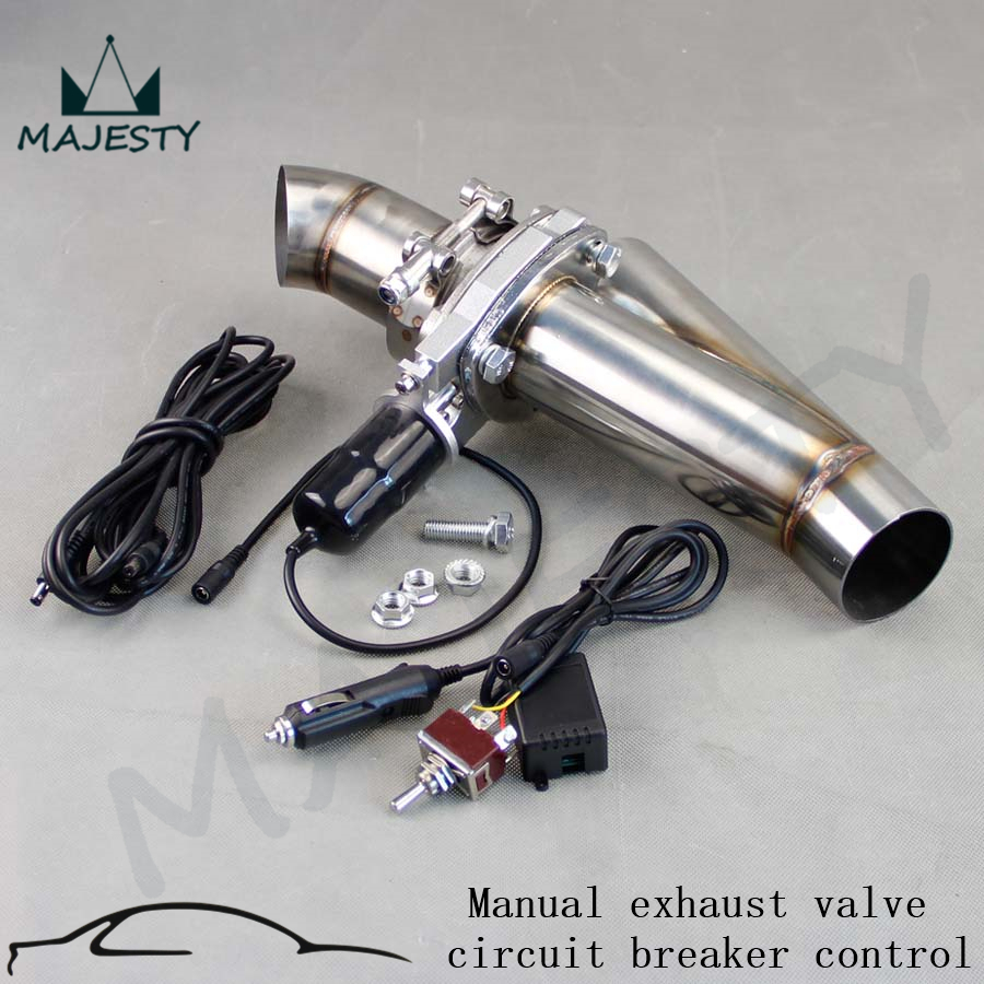 3 inch 76mm Electric Exhaust Catback Downpipe Cutout E-Cut Valve kit Switch Control silver<br><br>Aliexpress