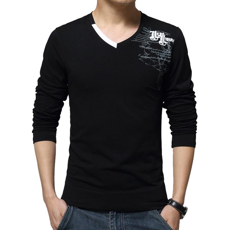 shirt men long sleeve t shirt men casual solid slim fit t shirts. Black Bedroom Furniture Sets. Home Design Ideas