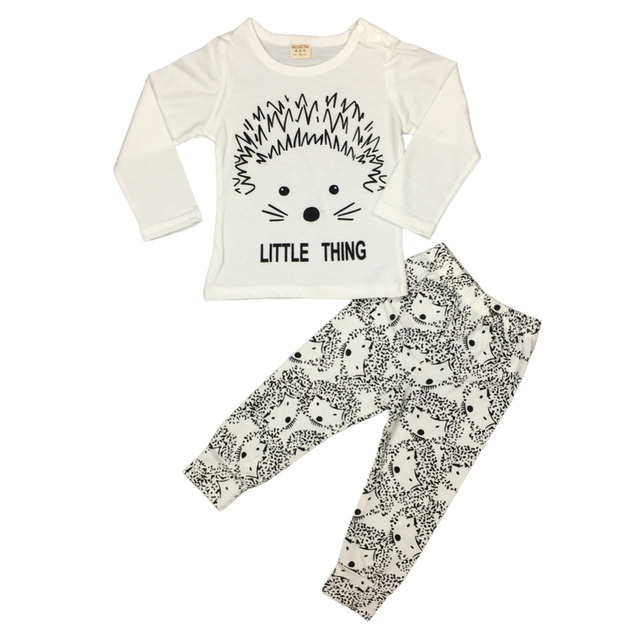 baby girl clothes cotton long sleeved t-shirt+pants