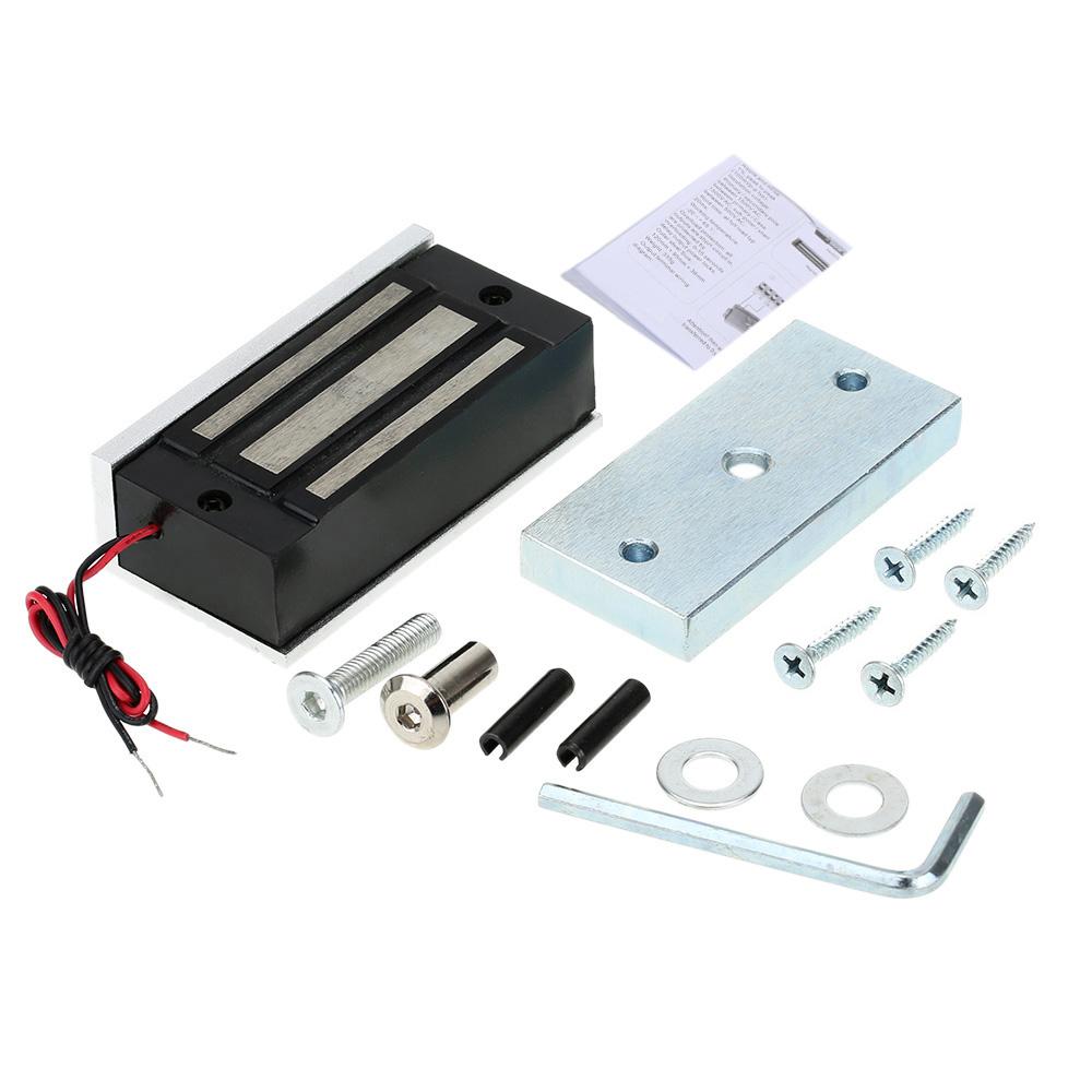 Buy 60kg 132lb electric magnetic lock for 12v magnetic door lock