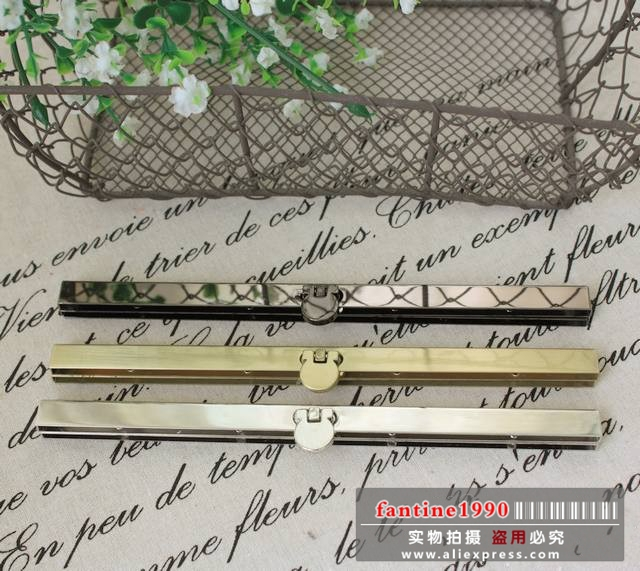 Free Shipping/3 color/ 19cm silver and black Bags Purse Metal Frame Clasp Making Supplies,ideal for wallet/ Wholesale(China (Mainland))
