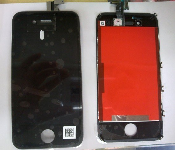 Black & White Touch Screen Assembly for iPhone 4S (original lcd with highcopy digitizer) with fee shipping and 3 month warranty
