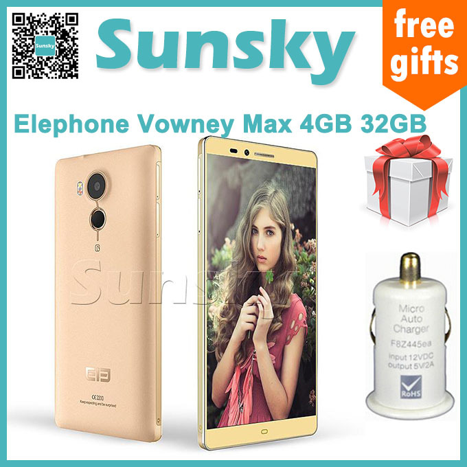Presale Orignal Elephone Vowney Max 5.5inch 2K Screen Android 5.1 4GB 32GB Smartphone 64bit MTK6795 Octa Core Touch ID Hotknot(China (Mainland))