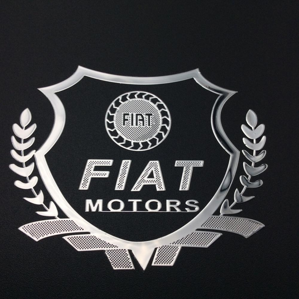 Excellent New car Gold metal Badge case fiat punto fiat 500 stilo ducato palio bravo doblo car emblem(China (Mainland))