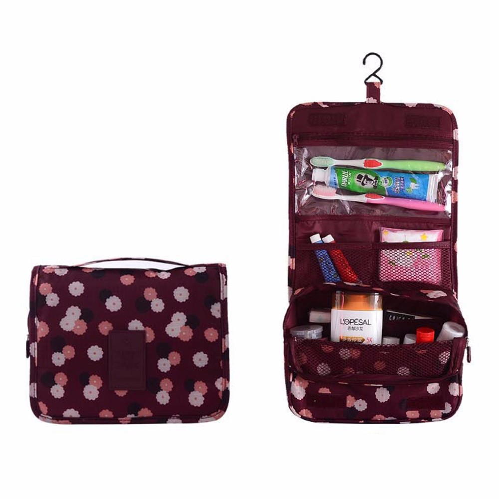 Cool Women Travel Toiletry Hanging Wash Makeup Cosmetic Case Folding Organizer Bags