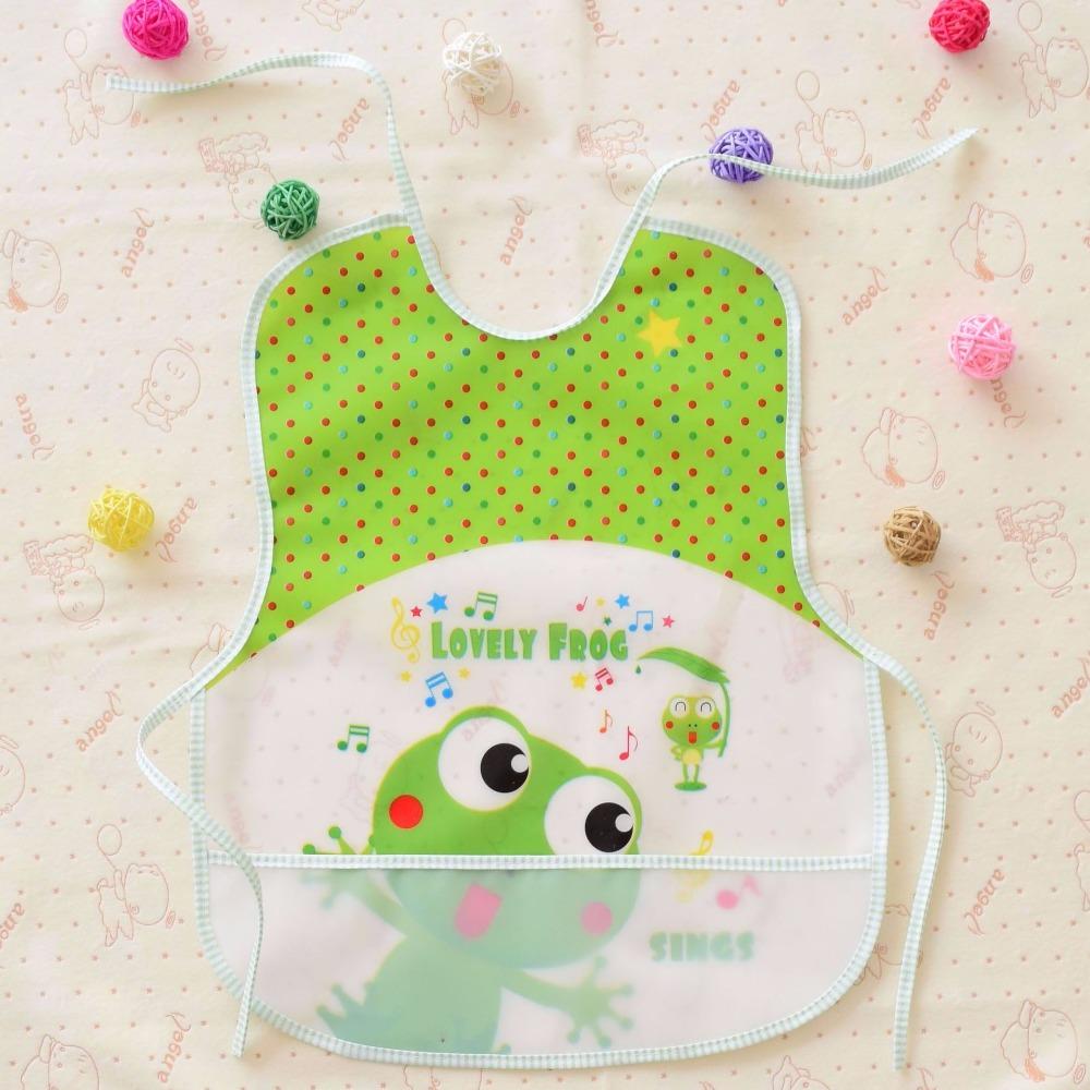 Cute Cartoon frog Baby Bibs EVA Waterproof Lunch Bibs Boys Girls Infants Bibs Burp Cloths For