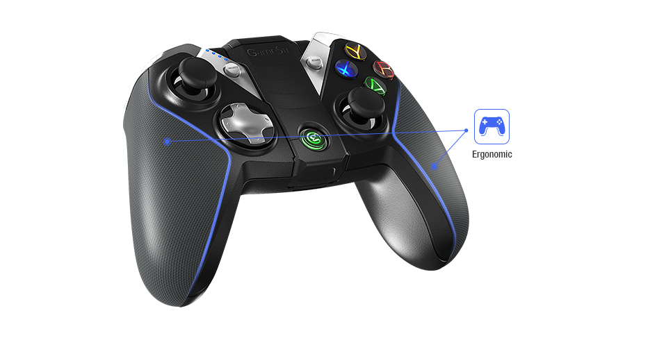 GameSir G4s with Joystick Grip,Bluetooth Game Controller for Android Smartphone /Android Tablet/ Samsung Gear VR/ Windows PC/PS3