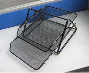 Free Shipping Free Shipping Mesh metal document tray iron file holder iron wire reticular file sorting rack(China (Mainland))
