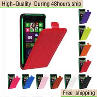 Crazy Horse Texture Vertical Flip Leather Case for Nokia Lumia 630