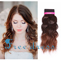 Gold Noble Dancing Beyonce Curl 22inch long Ombre brown deep wavy jerry curly synthetic hair weft of weaving hair extensions