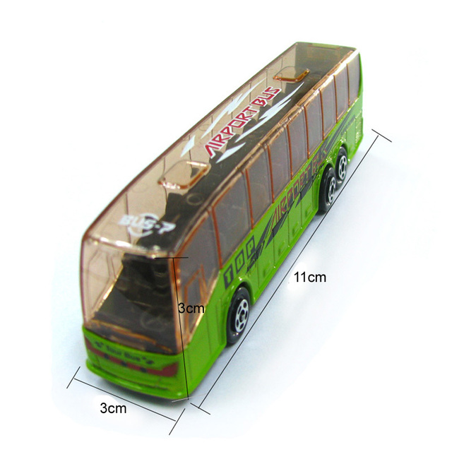 1pcs Metal MODEL DIE CAST 208  AIR PORT BUS  OR TOUR BUS classic toys for children boys Children's Day gift Global
