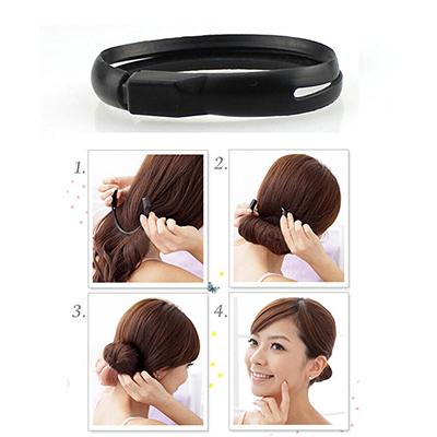2015 New Fashion 1 Pcs Hair Styling Hair Bun Maker Magic Easy Using Twist Ring Shaper Hair Styler Tool Raider(China (Mainland))